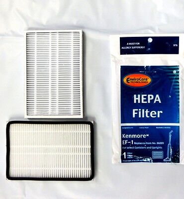 2 Envirocare Kenmore Hepa Filters Replacement 86889 20-86889 EF-1