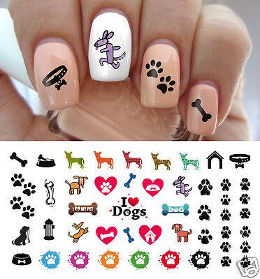 I love My Dog Paw Prints Nail Art Waterslide Decals - Salon Quality!