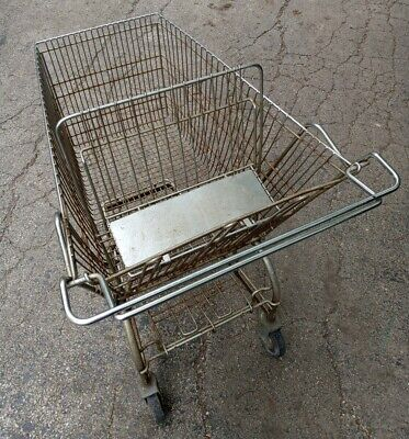 Unbranded Vintage Steel Grocery Shopping Cart