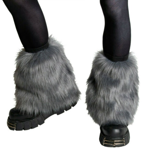 PAWSTAR Pony Puff Leg Warmer furry rave dance fluffies music Gray grey [GY]2590