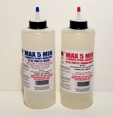 Epoxy Resin 5 Minute Cure Glue Fast Set Toughened 12 Gal Kit Low Cost Bulk Kit