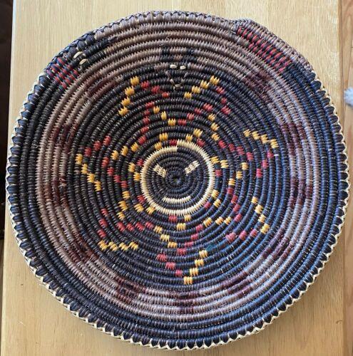"Lorraine Black, Navajo Handmade Woven Basket, 13"" Snake Basket"