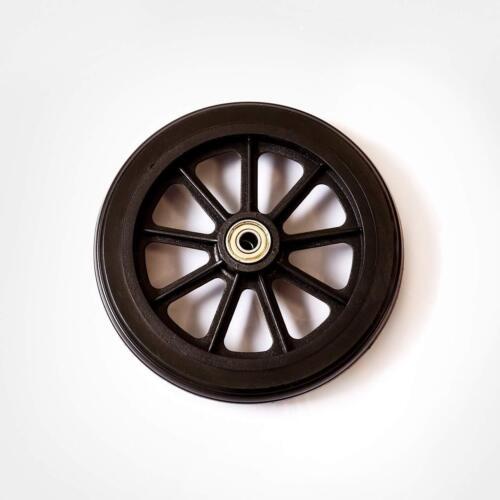 HEALTHLINE Wheels for Walker Rollator, 6 inch Pair, Black (2)
