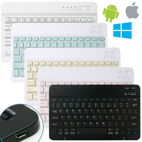 Rechargeable Wireless Bluetooth Keyboard for MAC iOS Android PC iPad Tablet Slim