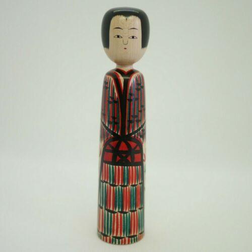 18cm Japanese Traditional Kokeshi Doll Fumio Miharu (1954−) Ishizo Ogura style