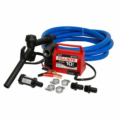 Fill-rite 12v 10 Gpm Fuel Transfer Pump Suction And Discharge Hoses Open Box