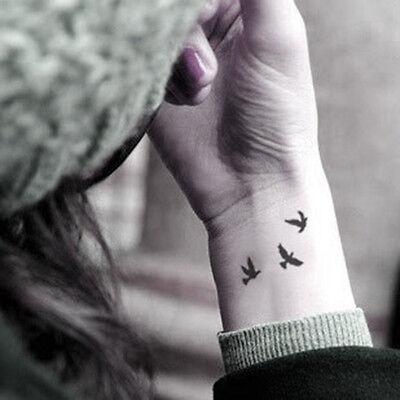 SALE - 2pcs Little swallows birds - InknArt Temporary Tattoo - wrist quote fake