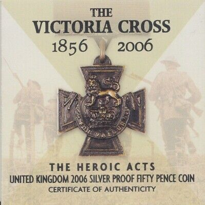 2006 The Royal Mint Silver Proof 50p Victoria Cross Certificate COA Only