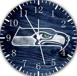 Seattle Seahawks Frameless Borderless Wall Clock For Gifts or Home Decor E447