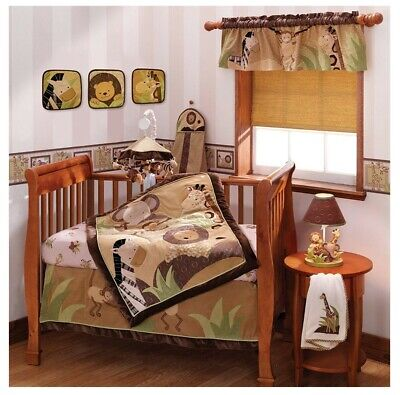 Lambs & Ivy crib bedding set -jungle theme, unisex