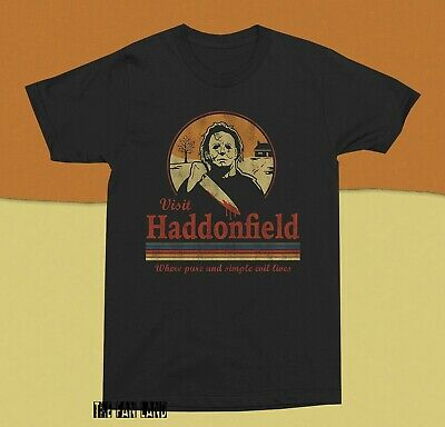 New Halloween Visit Haddonfield Michael Myers Mens Vintage Classic T-shirt