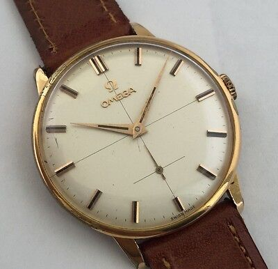 OMEGA  MENS 1960 REF 2933-1 VINTAGE OVERSIZED WATCH 37 MM cal.268 GOLD PLATED