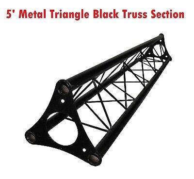 "5ft Lighting Triangle Bolted Truss 5' span Stand Universal DJ Metal 10"" Diameter"