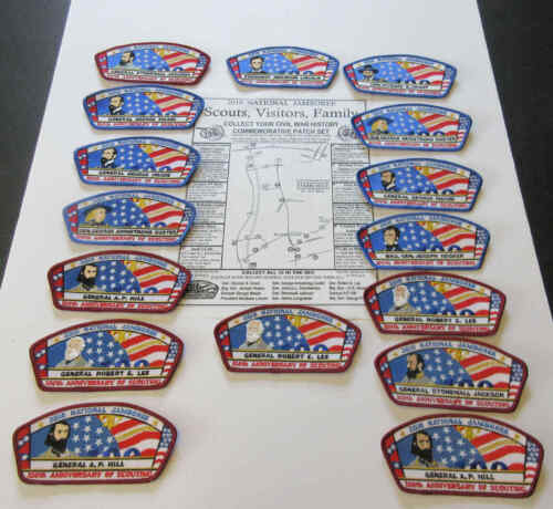 BSA  2010 National Jamboree Civil War Limited Edition Patch Lot of ( 16 )
