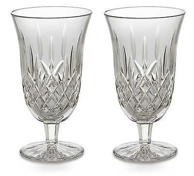 Pair of Waterford Crystal Lismore Iced Tea Beverage Glasses *New in Box*