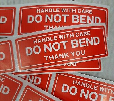 Do Not Bend Handle With Care Stickers 1 X 3 Pack Of 50 Not On Roll Fast Ship