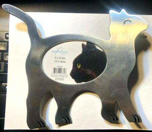 Cat With Fish In Mouth Pewter Picture Frame Inspirations by Heirloom Decortel