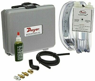 Dwyer 1212 Gas Pressure Kit With Slack Tube Manometer 8-0-8 W.c.