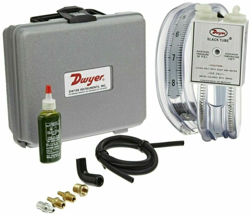 "Dwyer 1212 Gas Pressure Kit with slack tube manometer, 8-0-8 ""w.c."