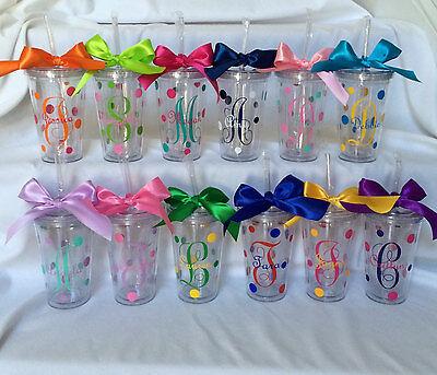 Bridesmaid Tumblers (Initial tumbler,Monogram tumblers,Personalized cups)