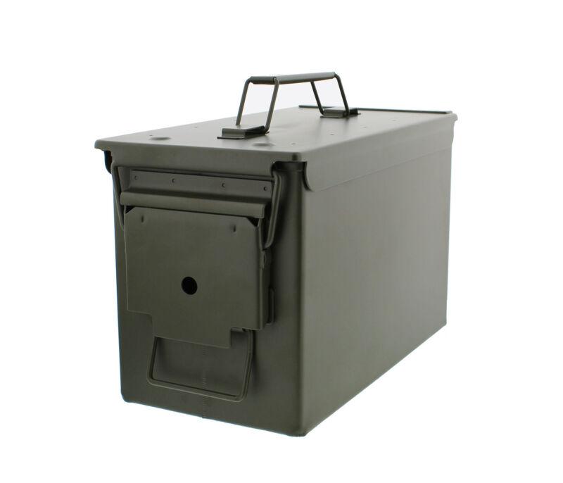50 Cal Metal Ammo Can 1-Pack – Military Steel Box Shotgun Rifle Gun Ammo Storage