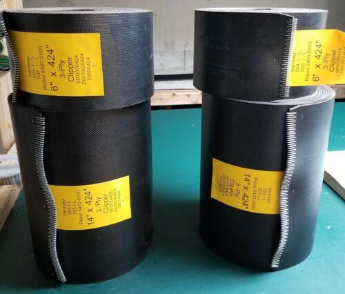 Baler Belts Vermeer 504L Baler Belt Set 3 Ply Texture x Texture w/clipper