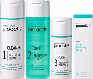Proactiv 60 Day 4pc Kit Proactive 3-Step System+Purifying Mask+Guide -Exp. 2020
