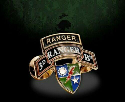 ARMY 3D RANGER BATTALION MILITARY LAPEL HAT PIN