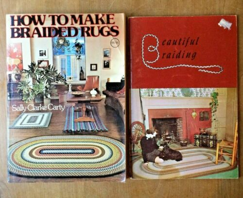 2 Rug Braiding Books How to Make Braided Rugs & Beautiful Braiding
