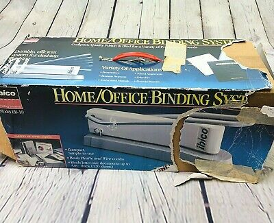 Ibico Binding System Machine Eb-19 Manual Punch Binder Plastic Or Wire Comb Box