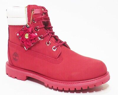 Timberland Waterville Holiday Edition Women's Waterproof 6 inch Red Leather Red Waterproof Leather
