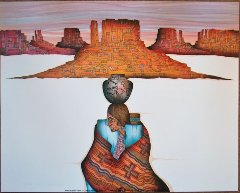 "Amado Pena Mini Prints ""Artesana Del Valle"" 1987 (7790) 8x10"
