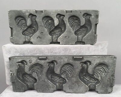 Antique Clear Candy Chocolate Mold - Chicken 22 70 Steel Alloy - Mills - 22 Chocolate Mold