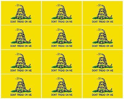 Gadsden Flag Sticker (Gadsden Flag Sticker 12 PACK 2