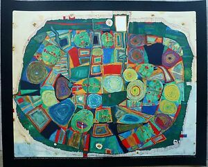 Friedensreich Hundertwasser Garden of the happy signed LITHOGRAPH Poster Lim4000