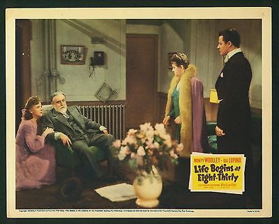 Life Begins At Eight-Thirty ORIGINAL Lobby Card 1942 Ida Lupino, Monte Woolley