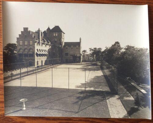 Antique Photograph Sepia THE TOWERS Singer Castle Dark Island 1920s Tennis Court