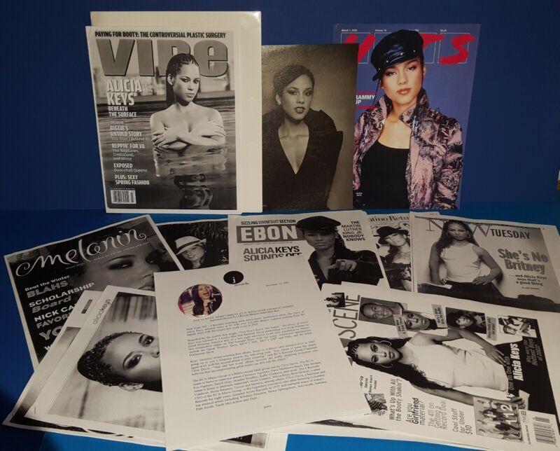 "ALICIA KEYS "" DIARY OF ALICIA KEYS "" PRESS KIT ,MAGAZINE ARTICLES  SHOW BUTTON"