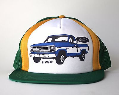 Vintage Ford F250 Trucker Hat Snap Back Cap 1984 Cool Baseball Truck 1978 1970's, used for sale  Ottawa