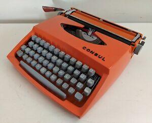 Retro 70's Consul Model 231.3 Manual Typewriter W Case Key & Manual Keysborough Greater Dandenong Preview
