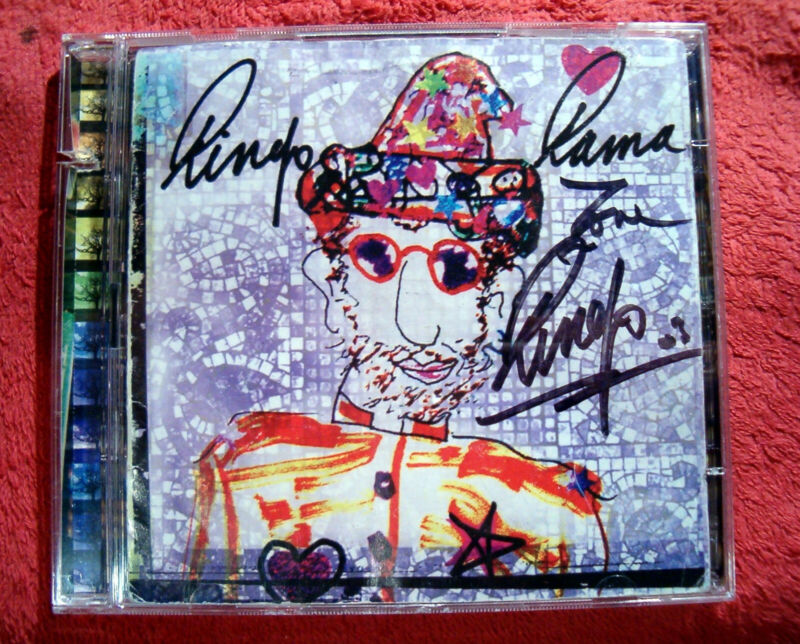 """AUTHENTIC SIGNED BY BEATLES RINGO STARR """"RINGO RAMA"""" SOLO DOUBLE CD/DVD 2003"""