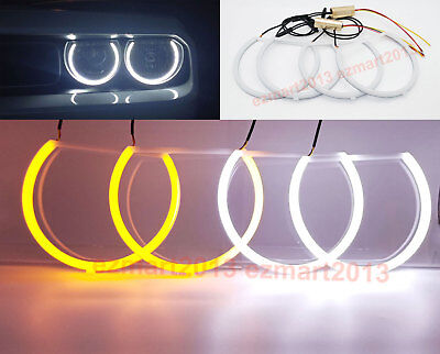 For Dodge Challenger Cotton LED Halo Ring Angel Eyes DRL Light Dual Color WH&YE