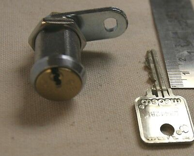 Medeco High Security 1-18 Cam Lock W 1 Key And Cam Tongue - Good Used Lock