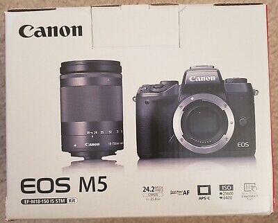 *SALE* Canon EOS M5 24.2MP DSLR Camera - Black (Kit w/ EF-M 18-150mm STM Lens)