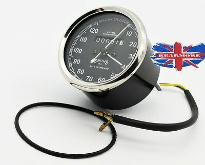 SMITHS SPEEDOMETER ODOMETER MILEAGE METER 120Mph British bike Speedometer Replic