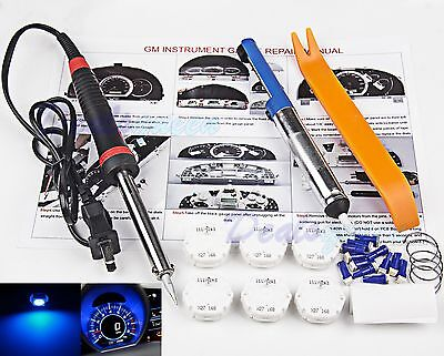 GMC GM gauge instrument cluster REPAIR KIT 6 Stepper Motor,tool,11 bulbs x27 168
