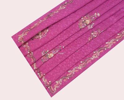 Beautiful Vintage Tradition Indian Pure Silk Decor Craft Saree Dress Recycled Printed Work Women Sari 5yd RAB37