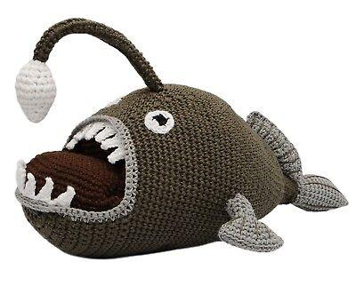 Anglerfish Hand Knitted Doll Angler Fish Handmade Amigurumi Stuffed Toy - Angler Fish Toys