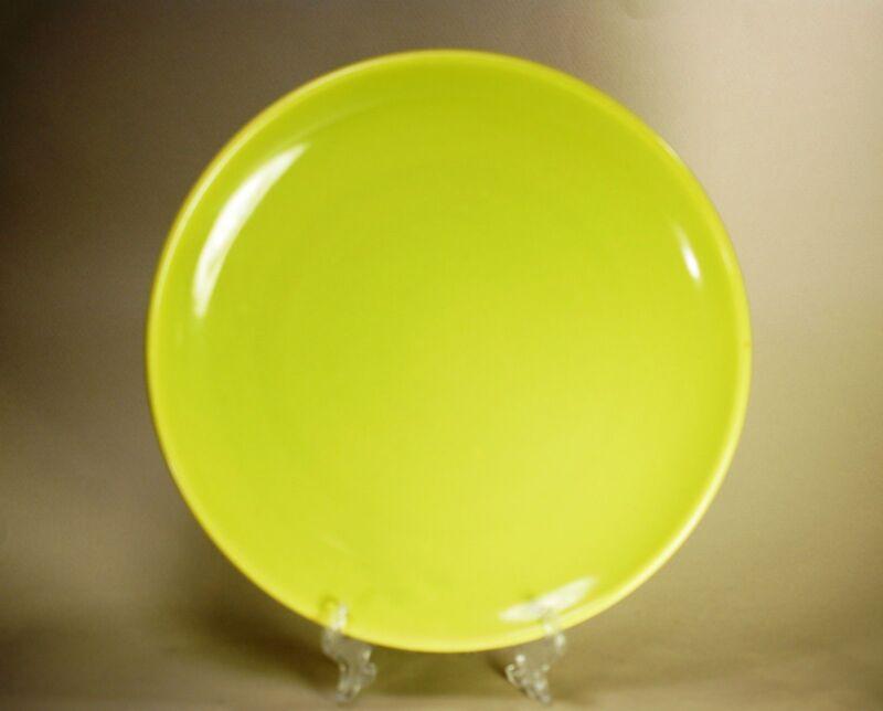 "Bauer Green Chartreuse ""Monterey Moderne"" 9.5 Dinner Plate California Pottery"