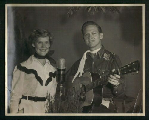 Vintage 1950s Country & Western Publicity Photo JIMMY STRICKLAND with his Sister